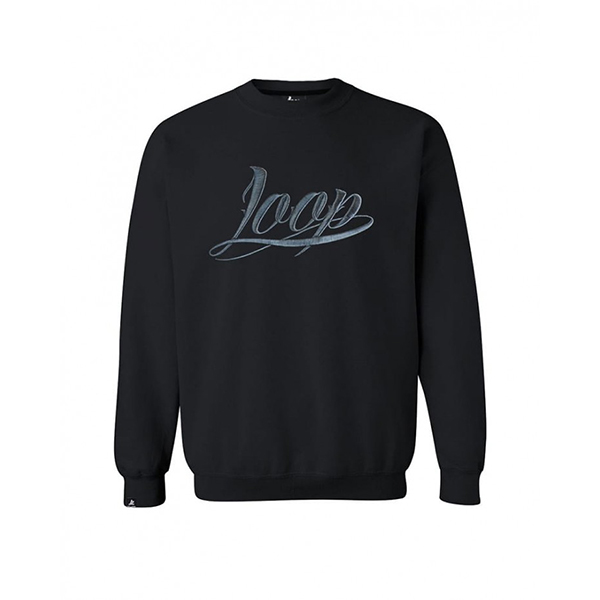 Loop Colors x Wrung Black crewneck