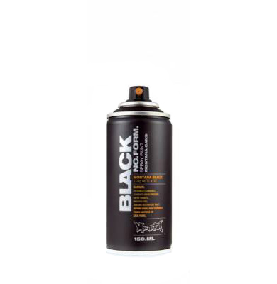 Montana Black 150ml spraycan