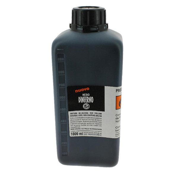 Nero D'inferno Leather Dye Ink 1000ml refill