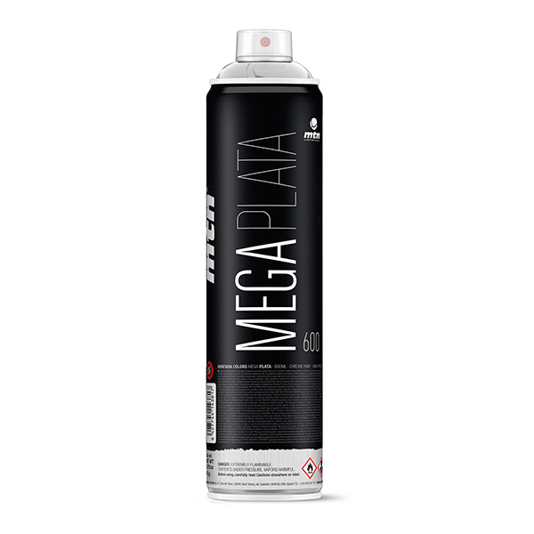 Montana Colors MTN Mega Silver 600ml spray can