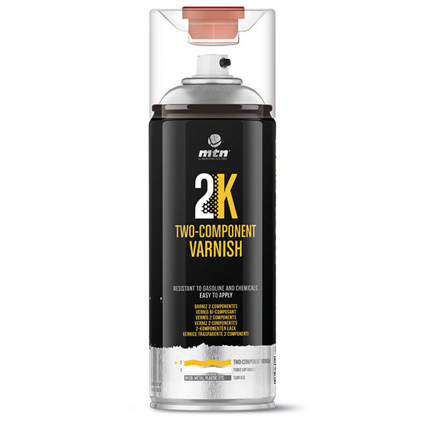MTN PRO 2K Two Component Varnish 400ml spray can