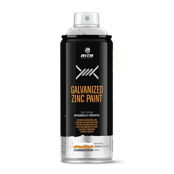MTN Pro Galvanized Zinc Paint 400ml spray can