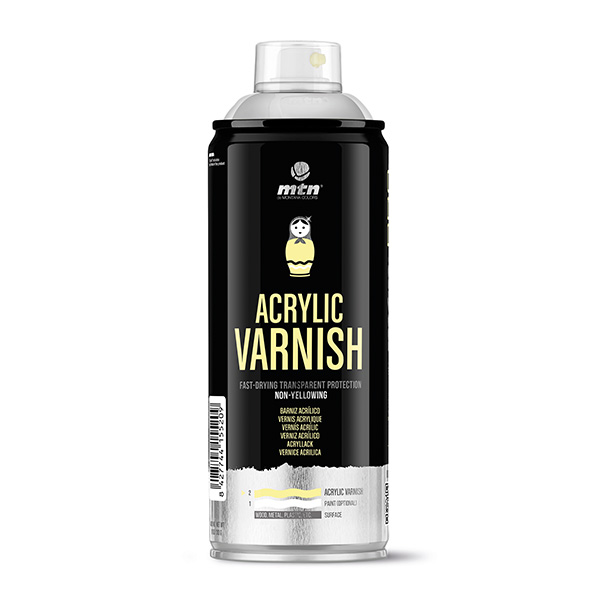 MTN PRO Acrylic Varnish 400ml spray can