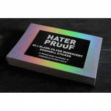 Hater Proof Silver-Iridescent 50pcs Sticker pack