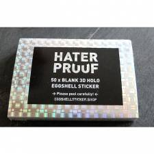 Hater Proof 3D Hologram 50pcs Sticker pack