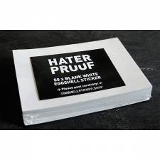 Hater Proof White 50pcs Sticker pack