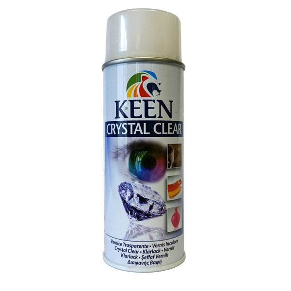 Keen Crystal Clear Varnish 400ml spray can