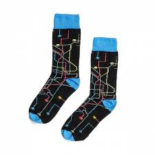 MTN Metro Black socks