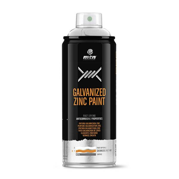 MTN PRO Galvanized Zinc 400ml spray can