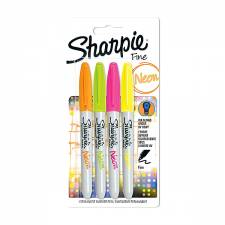 Sharpie Fine Neon 4pcs set