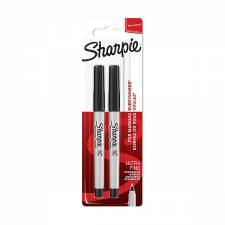 Sharpie Ultra Fine Black 2pcs set