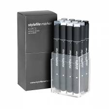 Stylefile Marker Neutral Grey 12pcs set