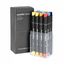 Stylefile Marker Main A 12pcs set