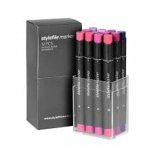 Stylefile Marker Wildberry 12pcs set
