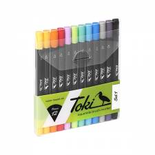Toki Aquarelle Brush Marker 12 pcs set