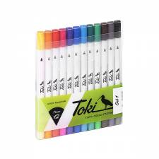 Toki Twin-Colour Marker 12 pcs set